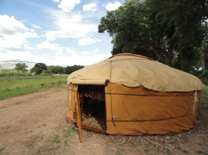 Nomad's yurt at Los Poblanos Inn & Cultural Center, August 2011